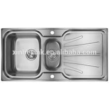 Drop-in Topmount Edelstahl Küchenspüle mit Abtropffläche