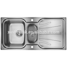 Drop-in Topmount Stainless Steel Kitchen Sink with Drainer