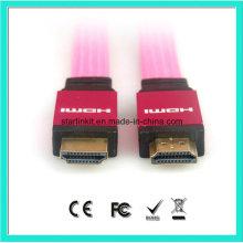Flat PVC Jacket 1.4V 1080P Câble HDMI