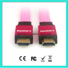 Flat PVC Jacket 1.4V 1080P cabo HDMI