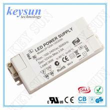 12W 12V 1000mA AC-DC Driver de tensão constante LED, driver led UL para tira LED