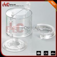 Eleppopular High Strength Transparent PC Прочный аварийный стоп Защитный замок легко устанавливается