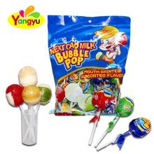 Milk Assorted Double Flavor Lollipop Filling Bubble Gum