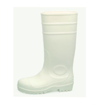 PVC Rain Boots White with Steel Toecap Sn1219