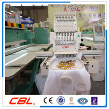 High speed single head 12 needles t-shirt embroidery machine