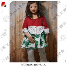 boutique remake green leaves clothing set