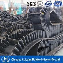 Гофрированные боковины конвейер резиновый пояс для тяжелой промышленности