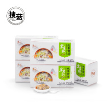 Tasty freeze dried egg soup with vegetables