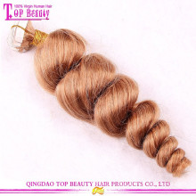 Estoque da fábrica de Qingdao fita clara extensões de cabelo fita extensões de cabelo remy fita de trama da pele, fita adesiva para extensões de cabelo