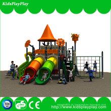 Equipamento plástico exterior do campo de jogos do miúdo do preço de fábrica do parque de diversões (KP14-102A)