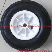 Rueda de goma de la carretilla del borde plástico / neumático de la carretilla