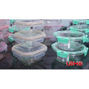 Hot sales Microwave Oven Safe glass food container leakproof bento lunch box meal prep storage food container