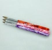hotsale acrylic beauty paint brush for acrylic nails nail art brush kolinsky with cap