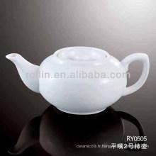 Pichet en laiton blanc sain durable en porcelaine avec couvercle