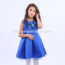 2017 China Supplier Wholesale Fashion Kids Frock Designs Girl Party Wear Children Dress with sequins