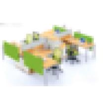 Hölzerne Standardgröße des Büroarbeitsplatzaufbaus für 4 Personen