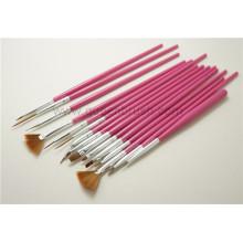 Atacado Nail Tools baratos 15pcs plástico escova de unhas