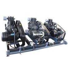 APCOM High Pressure piston Stationary Air Compressor 20 bar air compressor Diesel screw air compressor