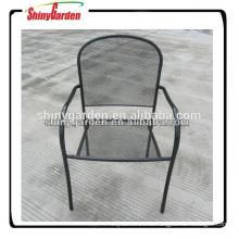 marco de acero de malla de metal muebles de acabado en polvo de la silla de jardín al aire libre