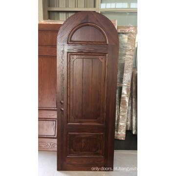 As portas de madeira inswing destro do café da porta interior de madeira contínua a mais atrasada do quarto do projeto
