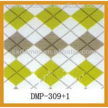 Check design printed canvas fabric wholesale