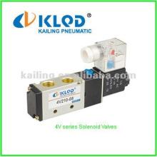 Válvula solenóide 4V, 4A, 3V, 3A / Controle pneumático / 3 ou 5 vias / Para controle de ar
