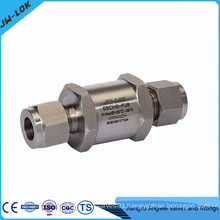 Stainless steel low pressure air check valve