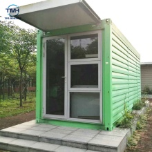 Conteneur préfabriqué de maison de cabine de maison de conteneur de toit plat pliable de haute qualité