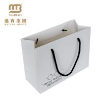 Saco de papel de compra rígido do presente da compra do impressão feito sob encomenda do fornecedor da fábrica de Guangzhou com seu logotipo