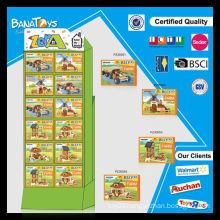 Funny product for kids farm building block with pdq paper display