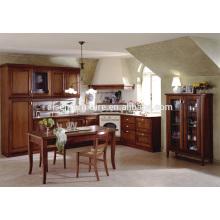 Armário de cozinha em madeira maciça de estilo americano, padrão de alta qualidade