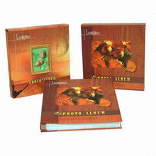 Photo albums, various kinds of cover available for you to choose from
