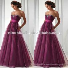 Empaire талия без бретелек милая декольте вечернее платье