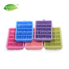 Bandeja de cubitos de hielo de silicona de tamaño perfecto de 15 agujeros