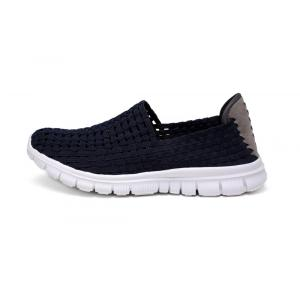 Estilo clásico Slip-ons Diseño Dark Blue Hollow Shoes