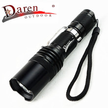 1, 200 Lumens 18650 Rechargeable LED Flashlight with Stainless Steel Clip