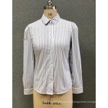 camisa de rayas blancas para mujer