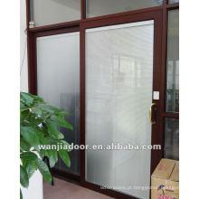 porta deslizante de alumínio do acordeão Design da forma do preço baixo Porta feita sob encomenda Exterior pré-pendurada da etiqueta
