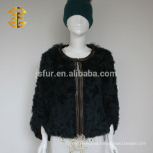 Latest Elegant Design Fashion Genuine Curly Lamb Skin Fur Coats for Women