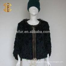 Latest Elegant Design Fashion Genuine Curly Lamb Skin Fur Coats for Women