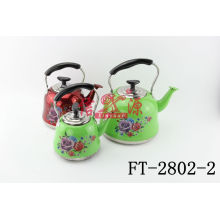 Stainless Steel Print Spraying Kettle with Stick Flower (FT-2802-2)