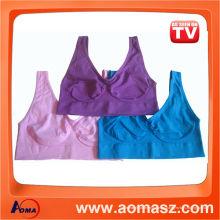 Color de rosa del sujetador del ahh del color / azul / púrpura inconsútiles 3pcs / set
