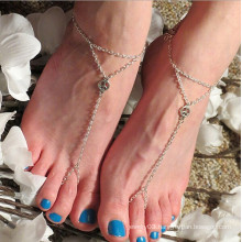 Hot sale peace silver foot chain silver design anklet