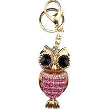 Big black eyes owl keychain