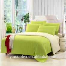 Suave manija de tela cepillada cama verde conjunto / sábana