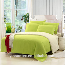 Soft Handle Brushed Fabric green bedding set/bed sheet