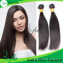 Cabelo humano malaio da extensão 100% do cabelo do Virgin 7A