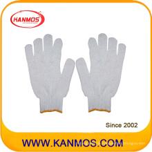 Günstige Strick-Baumwoll-Arbeitsschutz-Handschuhe (61001TC)