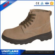 Semelle en caoutchouc semelle métallique Workman sécurité chaussures en usine