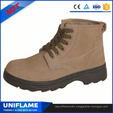 Rubber Outsole Metal Sole Workman Safety Shoes in Factory